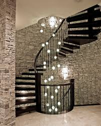 stairwell lighting ideas. cascading chandelier stairwell lighting ideas