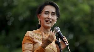 profile aung san suu kyi news myanmar pro democracy leader aung san suu kyi gives a speech on voter education at