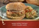 asian turkey burgers with wasabi sauce