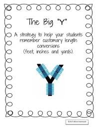 The Big Y Inches Feet And Yards Math Conversions Math