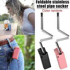 Reusable Metal Foldable Stainless Steel <b>Colorful</b> Final Straw   RM3.00
