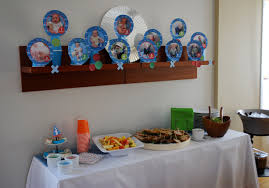 baby month by month photo idea for a 1st birthday party