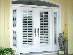 sliding door with built in blinds patio