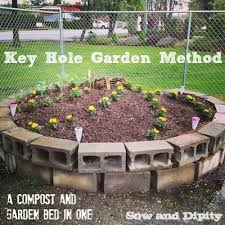 garden compost. keyhole garden bed method a compost and in one, composting, gardening,