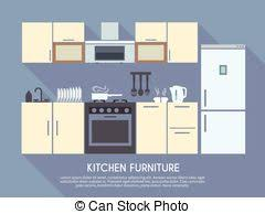 kitchen furniture clipart. modern kitchen clipartby hemul4/37; furniture illustration - interior design. clipart
