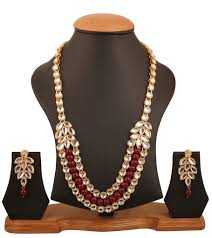Antique Polki Jewellery Designs Touchstone Indian Bollywood Graceful Kundan Polki Look Heavy Designer Jewelry Necklace Set In Antique Gold Tone For Women Ksnsl087 01k Y