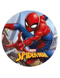 Spiderman Edible Image Cake Topper Wafer Disc 8 Amazoncom
