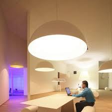 hanging light fixture fluorescent round abs sphere by bart lens eden design b v b a