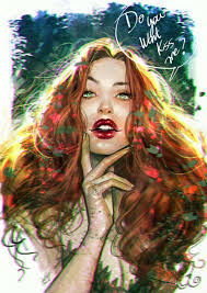 """lukaswerneck: """"""""Do You want Kiss me?"""" Be careful she is poisonous ;) Poison Ivy  Lucas Werneck """" 