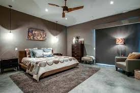 master bedroom lighting modern master bedroom using grey wall colors and illuminated with hanging pendants and