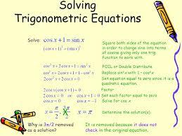 12 solving trigonometric