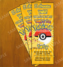Printable Pokemon Birthday Invitations Sample Documents