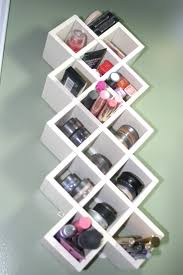 Furniture:Small Bathroom Makeup Storage Idea With Cute Square Floating  Shelves Creative Makeup Storage With