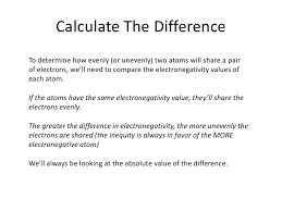 Electronegativity Part Two