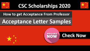 Acceptance Letter Samples For Csc Scholarships 2020 Under