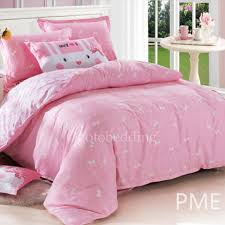 affordable cute baby pink patterned kids bedding sets for girls