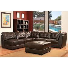 erica piece top grain leather modular sectional living room set