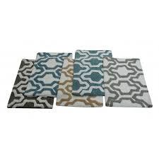 saffron fabs bath rug 100 soft cotton size 34x21 inch latex spray non