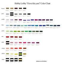 Hobby Lobby I Love This Yarn Color Chart Yarn Color