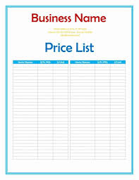 Pricing Model Excel Template 26 Price List Templates In Word Excel