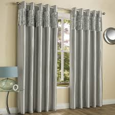 Silver Bedroom Curtains Amalfi Crushed Velvet Fully Lined Ring Top Curtains Silver Grey