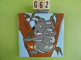 ceramic art tile 6 x6 cute koala bear