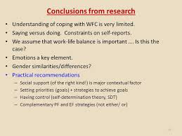 enhancing balance in our lives michael o driscoll school of  15 conclusions