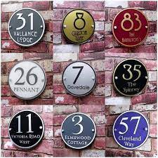 personalised house sign door number