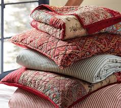 georgia patchwork quilt sham red pottery barn pottery barn providence quilt