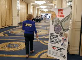 the 54th annual las vegas numismatic society coin show at westgate hotel on thursday