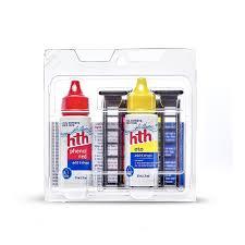 Oto Chlorine Test Color Chart Hth 3 Way Pool Test Kit