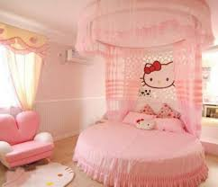 Hello Kitty bedroom with round bed.