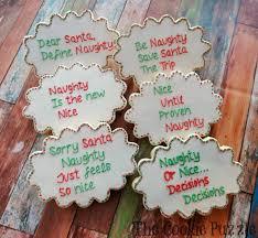 Naughty and Nice Christmas Cookies