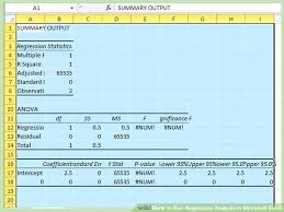 linear regression in google sheets linear regression in excel 2010 linear regression function excel