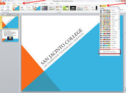 Microsoft Office Ppt Theme Applying And Modifying Themes In Powerpoint 2010