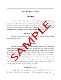 florida irrevocable trust sample. sample florida last will \u0026 testament irrevocable trust r