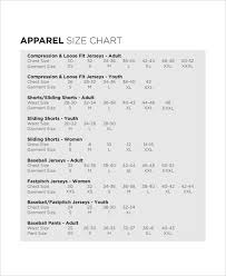 Free 8 Size Chart In Examples Samples In Pdf Examples