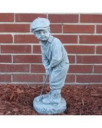 boy golfer statue in alexandria mn