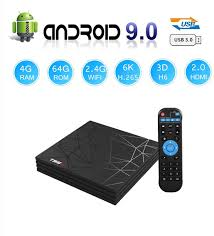Magicsee N5 Nova Android 9.0 TV Box with Remote Control 4GB Ram 64GB Rom  RK3318 Quad-Core WiFi 2.4Ghz/5Ghz Bluetooth 4.0 USB 3.0 Miracat DLNA Airplay