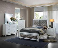 global furniture mackenzie modern white finish metal accent queen bedroom set 5 pcs reviews global