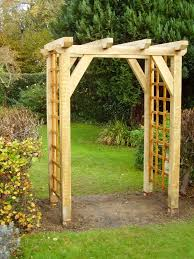 build a wooden arch trellis