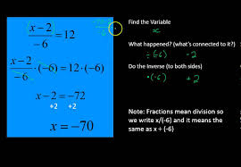 solve for x in two steps with fractions simplifying math