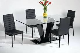 modern glass dining table s extendable with top and metal base caesar set 6 seater nabu