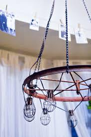wagon wheel chandelier