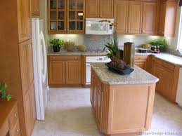 Small Picture Kitchen backsplash with oak cabinets and white appliances My
