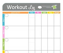 Blank Workout Schedule Template New Plan Template Printable Workout ...