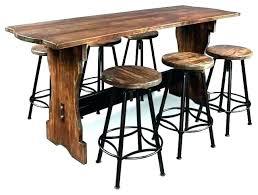 astounding barstool table astounding brown wood