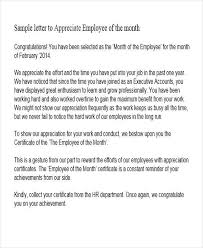 Words Of Appreciation For Employee 41 Appreciation Letters In Pdf