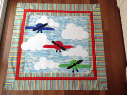 Baby quilt – Airplanes Part 2 | Not Your Normal Steam & Airplane Baby Quilt Adamdwight.com