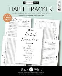 Habit Tracker Planner Inserts Daily Habits Chart Monthly Habits Goal Planner 30 Day Habit Plan Healthy Habits Printable Planner Downloadable